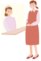 看護師と妊婦