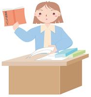 書類と女性