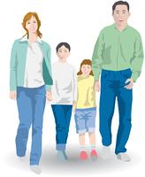 4人の親子