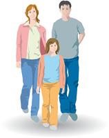3人の親子