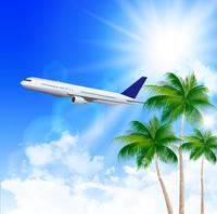 海 飛行機 夏 背景