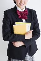ノートを持つ女子高生
