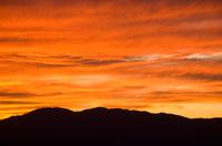 閑乗寺公園展望台から望む夕焼け