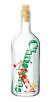 ボトル_クリスマス_メリークリスマス_赤・緑