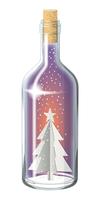 ボトル_クリスマス_ペーパークラフト_クリスマスツリー