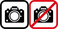 撮影許可と撮影禁止のピクトグラム