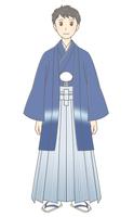 羽織袴の男性