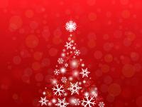 光り輝くクリスマスツリーのバックグラウンド