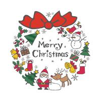 クリスマス素材のリース