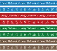 クリスマスのボーダーイラスト