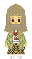 江戸時代 時代劇 武家の男性 頭巾