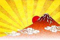 富士山 日の出 年賀状 背景