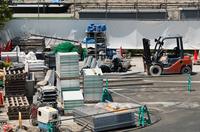 工事現場の資材置き場