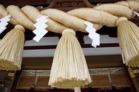 新田神社の注連縄