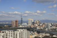 福岡タワーと高速1号線
