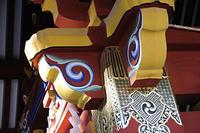 神社の柱の装飾