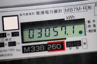 倉庫の壁の電力量計