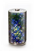 エコ電池と電気の環境イメージ