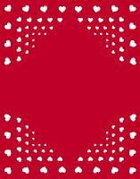 ハート柄のパターン