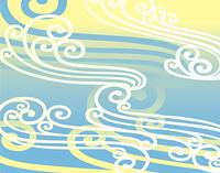 波模様のパターン