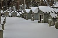 厳冬の松前・松前藩主松前家墓所