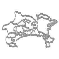 神奈川 地図 フレーム アイコン