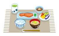 朝食セット 配膳 和食 ランチョンマット