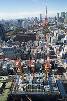 高層ビルの建設現場