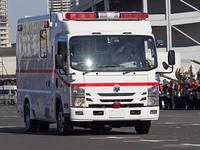 大型の救急車