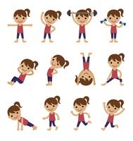 エクササイズ、トレーニングをする女性
