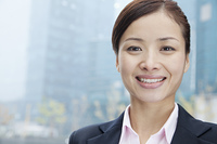 Smiling Chinese businesswoman