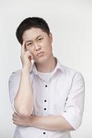 Uncertain Chinese man