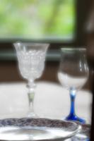 西洋館のグラス