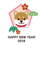 年賀状2018戌年(縦位置)