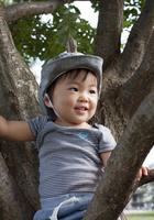 木登りをする男の子