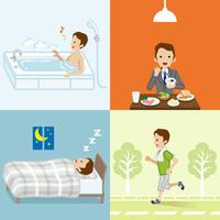 健康的な生活習慣 ビジネスマン