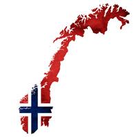 ノルウェー 地図  国旗 アイコン