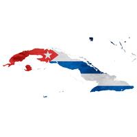 キューバ 地図  国旗 アイコン