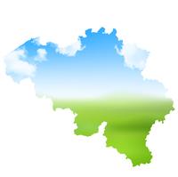 ベルギー 空 地図 アイコン