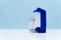 折り紙 ペンギンの親子
