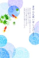 金魚 夏 暑中見舞い 背景