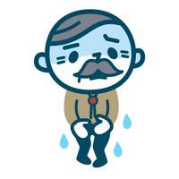 頻尿で慌てるシニア男性