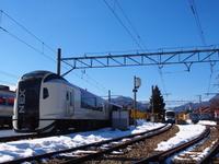 河口湖駅に停車している列車たち