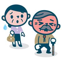 熱中症のシニア夫婦
