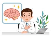 脳の説明をする医師