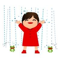 雨 かえる