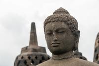 ボロブドゥール遺跡の仏像