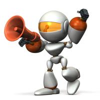 声援を送るキュートなロボット