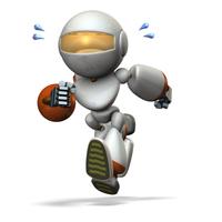 かけっこするキュートなロボット
