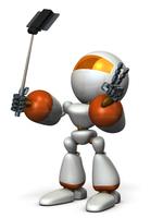 自撮りするキュートなロボット